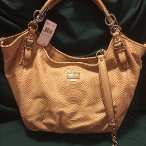 *BRAND NEW* COACH Madison Python Shoulder Bag